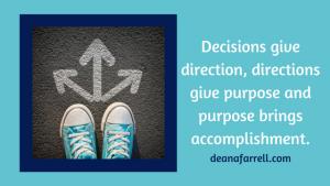 decisions help find focus